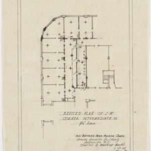 Revised plan of southwest corner, intermediate floor