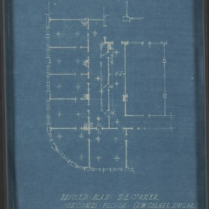 Revised plan of southeast corner, second floor