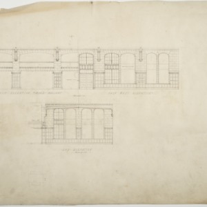 Half elevations, end elevation