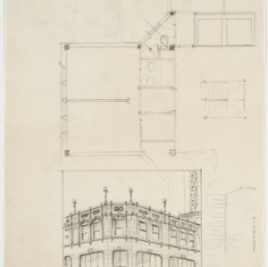 Perspective drawing, floorplan