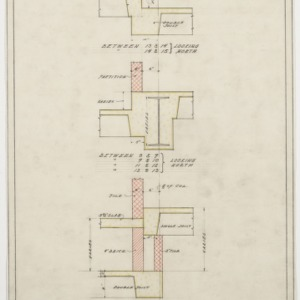 Sections of first floor framing plan
