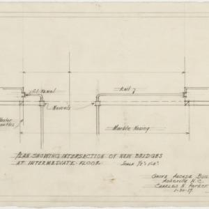 Intersections of new bridges at intermediate floor