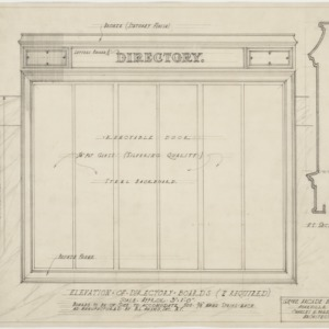 Elevation of directory boards