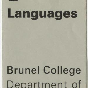 Seminars on simulation brochures, 1966-1971