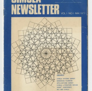 Simula Newsletter, Volume 1, No. 1,  May 1973