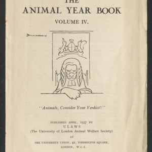 Advertisement flyer, The animal year book, vol. 4