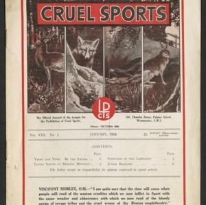 Cruel sports, vol. 8, no. 1