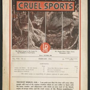 Cruel sports, vol. 8, no. 2