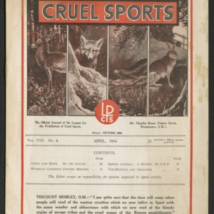 Cruel sports, vol. 8, no. 4
