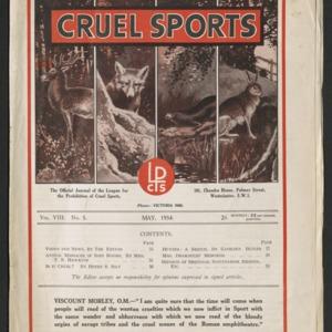 Cruel sports, vol. 8, no. 5