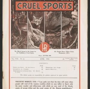Cruel sports, vol. 8, no. 6