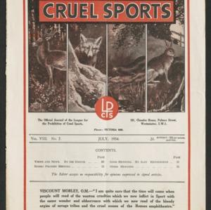 Cruel sports, vol. 8, no. 7