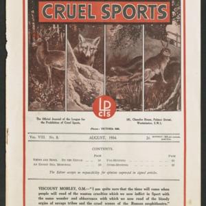 Cruel sports, vol. 8, no. 8