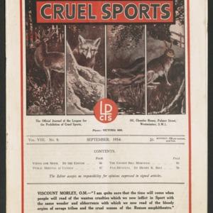 Cruel sports, vol. 8, no. 9