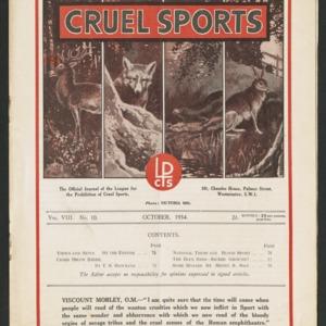 Cruel sports, vol. 8, no. 10
