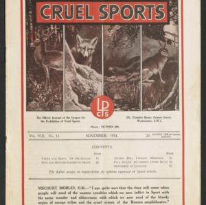 Cruel sports, vol. 8, no. 11