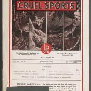 Cruel sports, vol. 9, no. 1