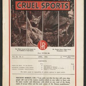Cruel sports, vol. 9, no. 4