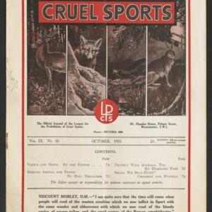 Cruel sports, vol. 9, no. 10