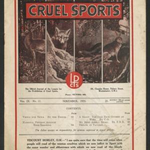 Cruel sports, vol. 9, no. 11