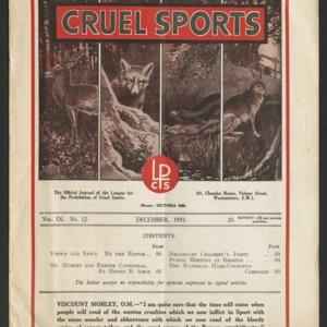 Cruel sports, vol. 9, no. 12