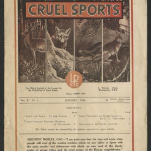 Cruel sports, vol. 10, no. 1