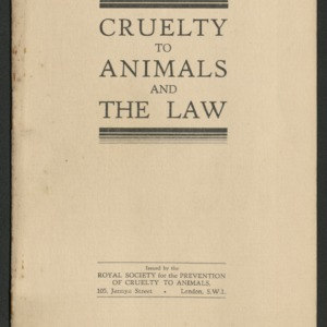 Cruelty to animals and the law