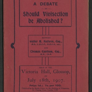A debate on should vivisection be abolished?
