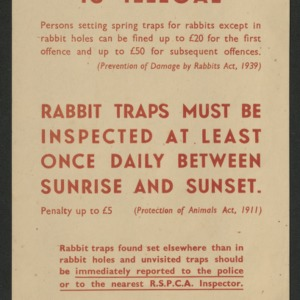 Open trapping is illegal