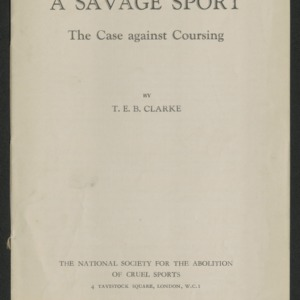 A savage sport: the case against coursing