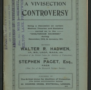 A vivisection controversy