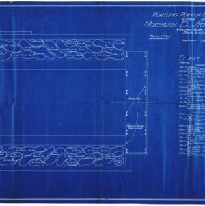 Estate of Norman D. Stockton -- Planting Plan of Bulb Garden