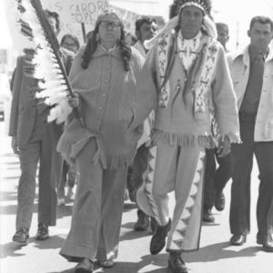 Tuscarora Indian Protest marchers