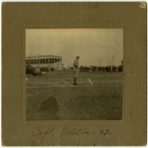 Baseball Captain Joseph Alfred Miller on field