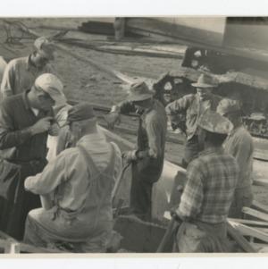 Workmen on Dorton Arena's construction site, 1951-1952