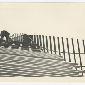 Form work of Dorton Arena during its construction, 1951-1952