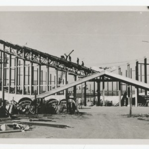 Dorton Arena's exterior cross being constructed