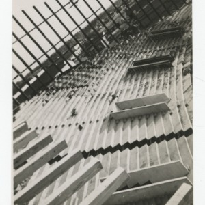 Steps of Dorton Arena during its construction, 1951-1952
