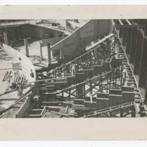 Steps of Dorton Arena during its construction