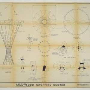The Sign Tower for Tallywood Shopping Center architectural drawing