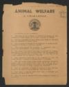 Animal welfare, a challenge