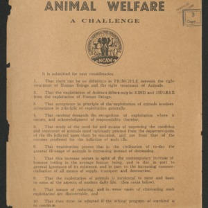 Animal welfare, a challenge