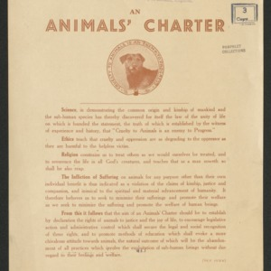 An animals' charter