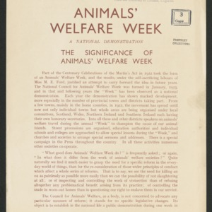 Animals' welfare week