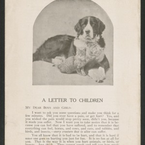 A letter to children