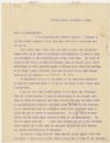 Correspondence to Dr. Albert Leffingwell, September 2, 1903