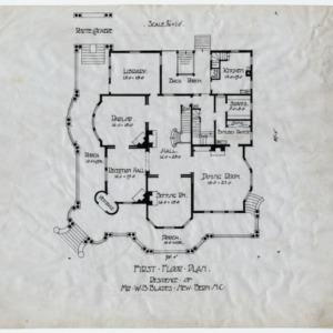 First floor plan, W.B. Blades House, New Bern, Craven County, North Carolina
