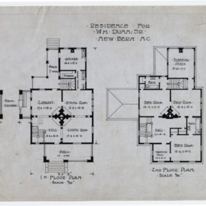 First floor plan, second floor plan