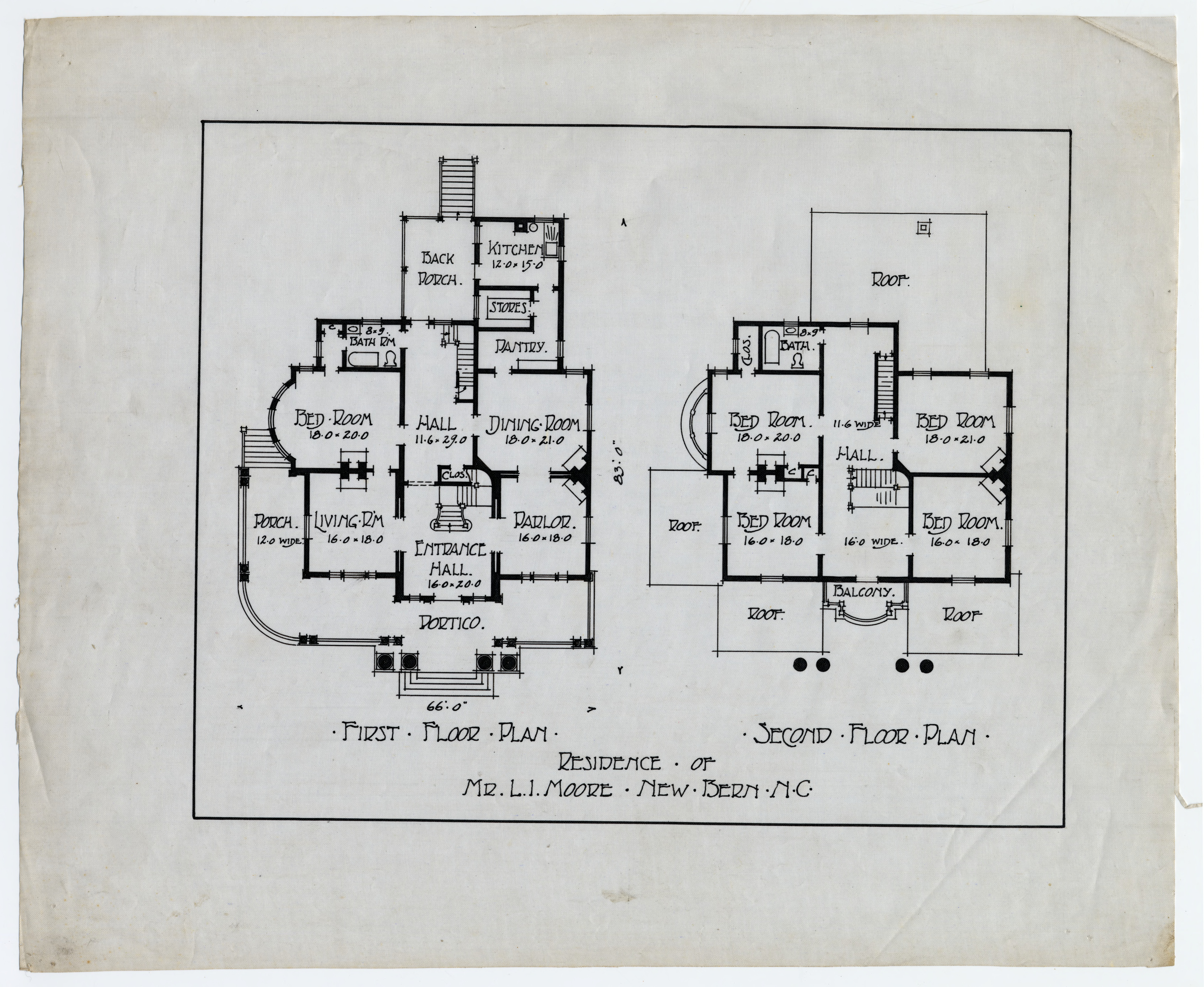 First Floor Plan Second Plan Larry I Moore House