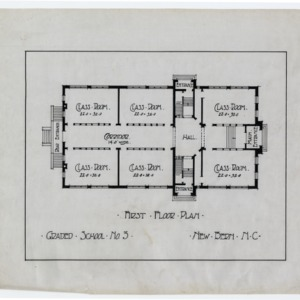 Graded School Number 3 -- First floor plan